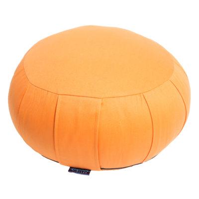 Zafu meditaatiotyyny -KAPOK täyte ja irrotettava päällinen – oranssi 1300g