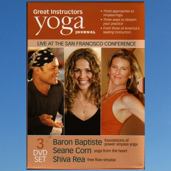 Yoga Journal's Great Instructors 3 Pack – Baron Baptiste – Shiva Rea –  Seane Corn
