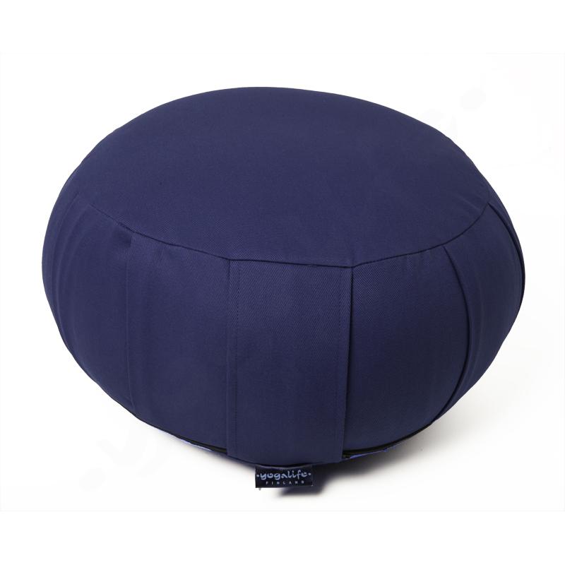 Zafu meditaatiotyyny -KAPOK täyte ja irrotettava päällinen – sininen 1300g