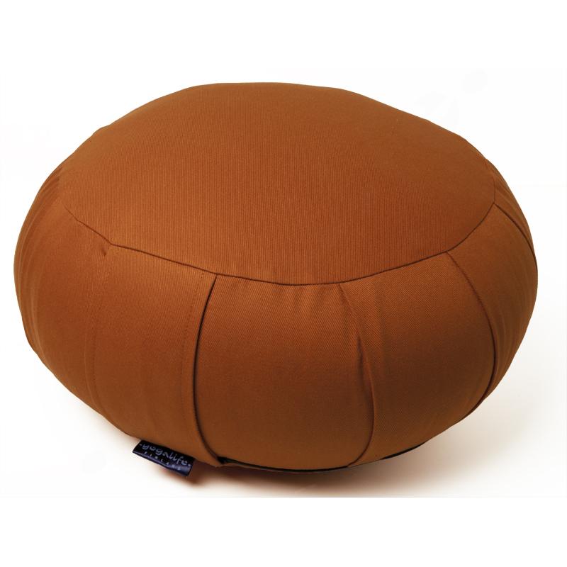 Zafu meditaatiotyyny -KAPOK täyte ja irrotettava päällinen – terracotta 1300g